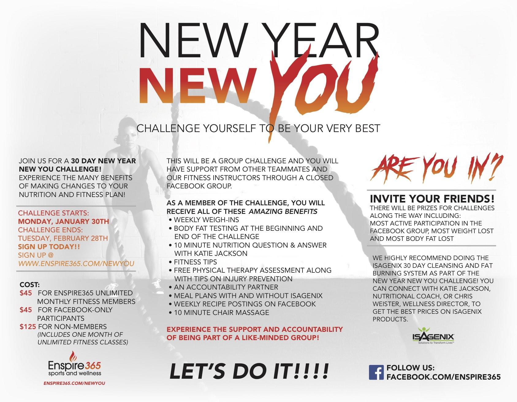 New Year New You Wellness Challenge – Blaze365