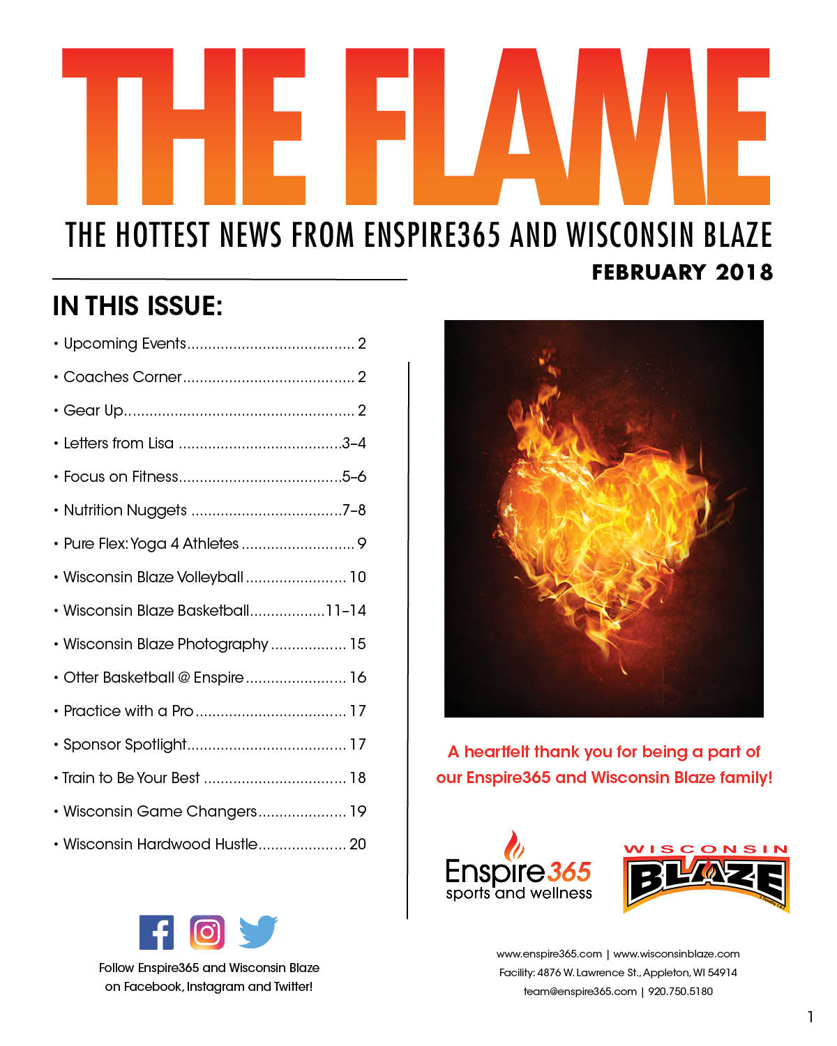 The Flame Feb 2018 Newsletter