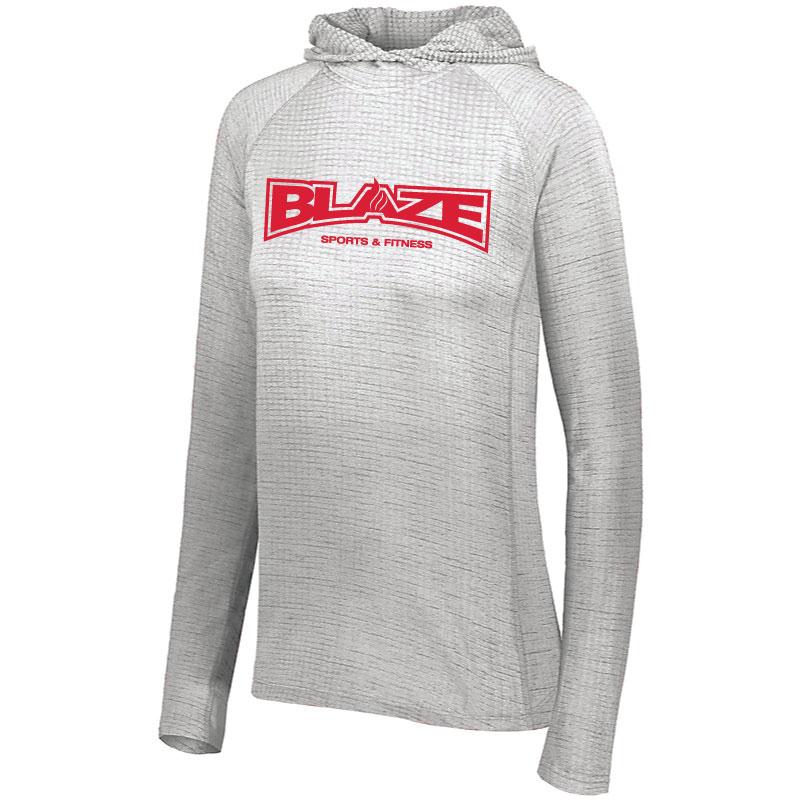 Blaze Sports   Fitness Ladies 3D Regulate Lightweight Pullover – White Grey 07bcb213e