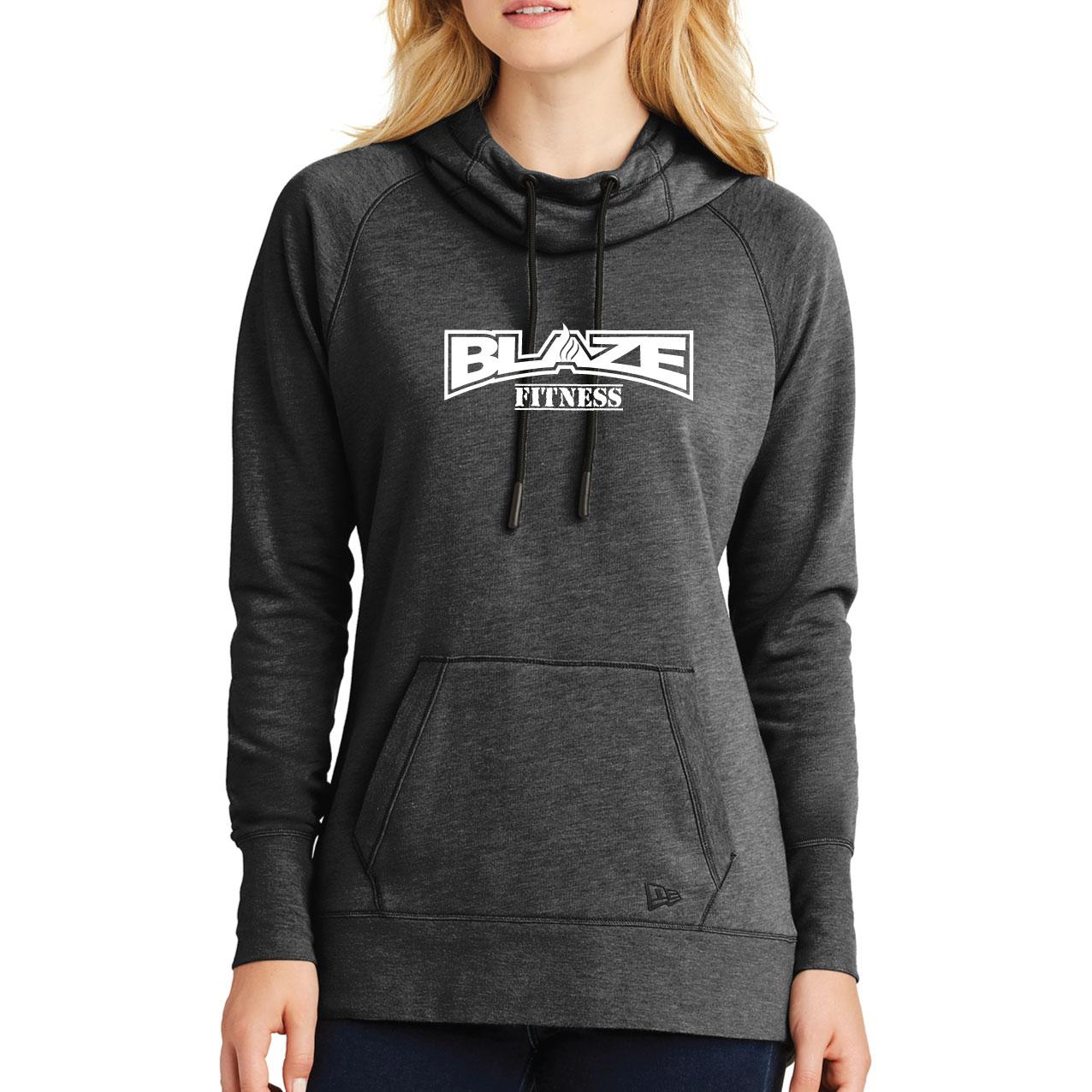 841ea2b69 Blaze Fitness Ladies Tri-Blend Fleece Pullover Hoodie – Black Heather