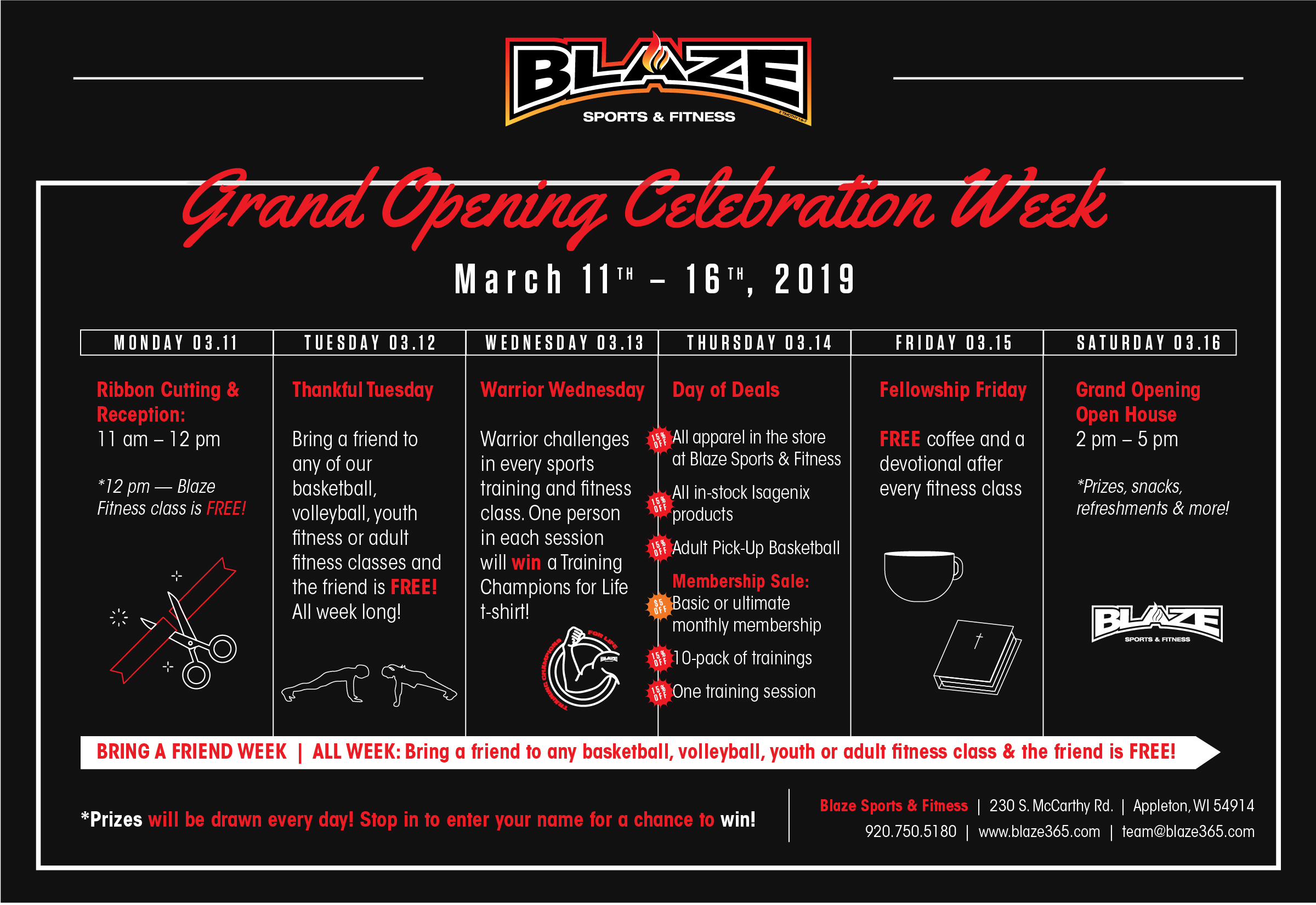 Blaze Sports & Fitness Grand Opening