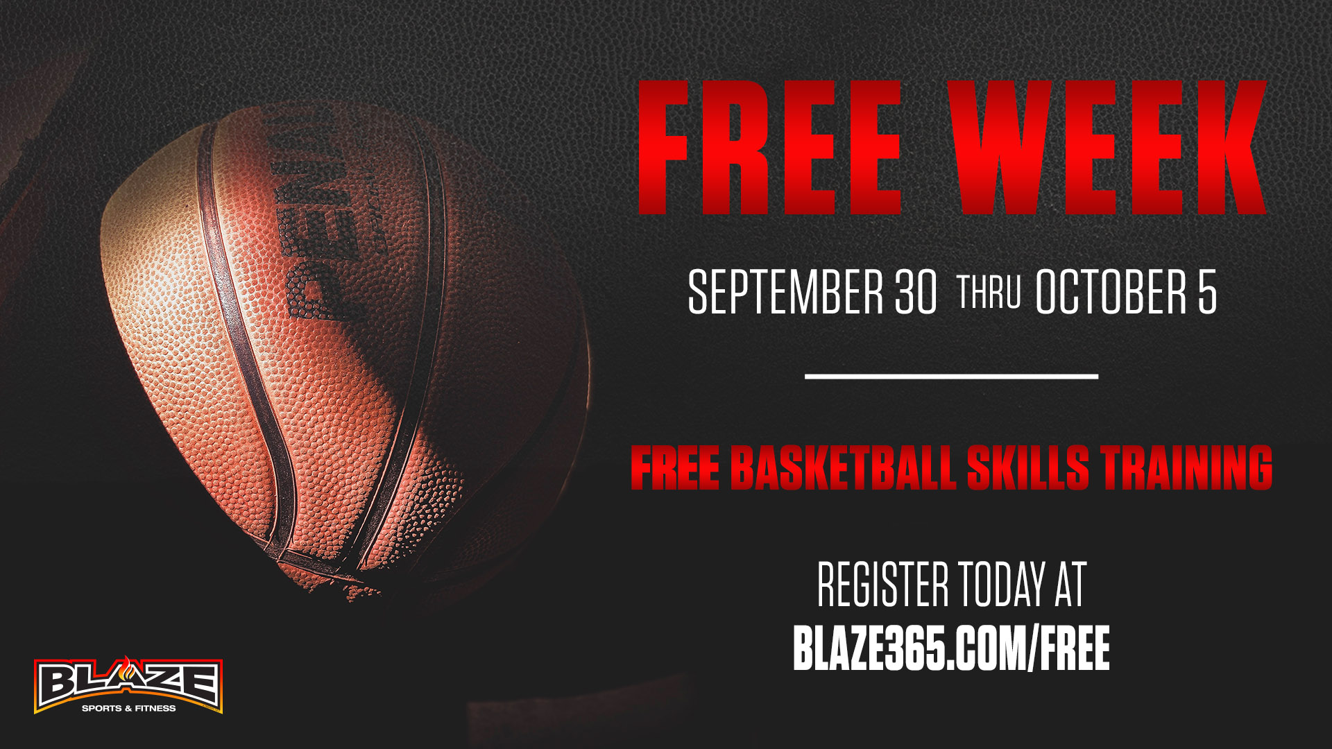 Blaze Basketball free training