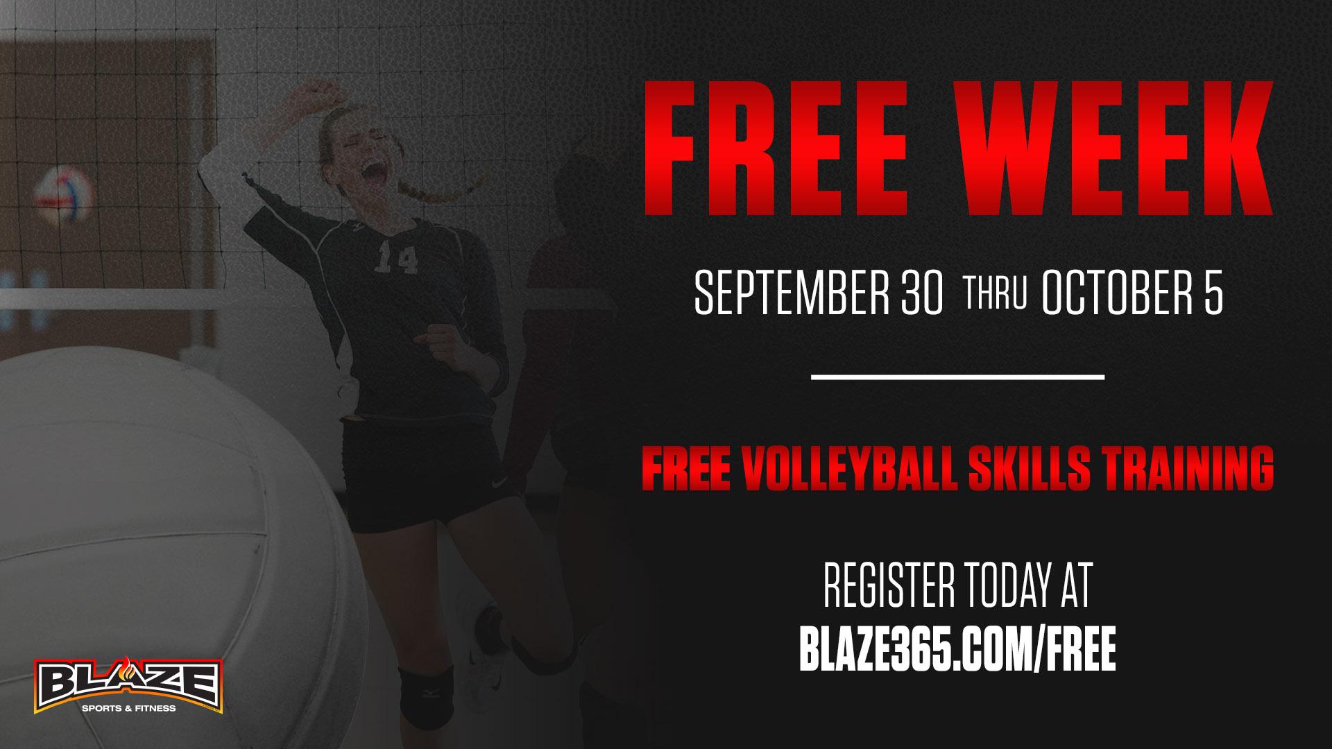 Blaze volleyball skills training free
