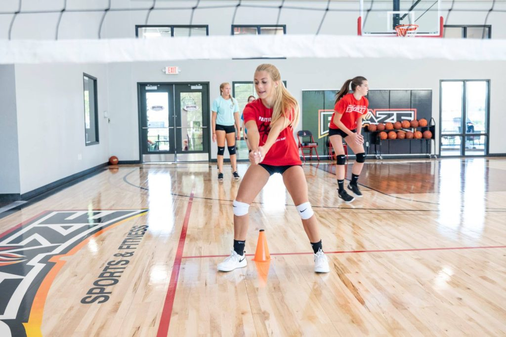 Blaze volleyball training