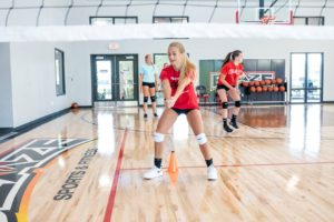 Blaze volleyball training