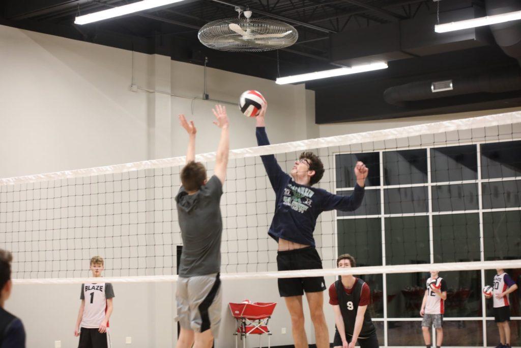 Blaze boys volleyball skills training