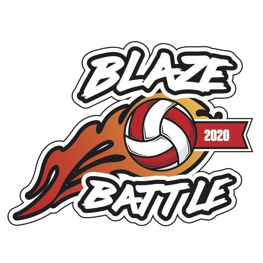 Blaze Battle Volleyball Logo 2020