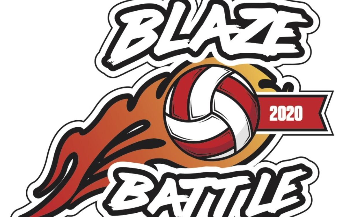 Blaze Battle Volleyball Logo 2020